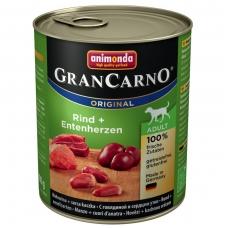 ANIMONDA GRANCARNO ORIGINAL 800 g. su jautiena ir ančių širdelėmis.