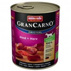 ANIMONDA GRANCARNO ORIGINAL 800 g. su jautiena ir širdimis.