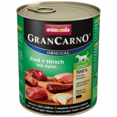 ANIMONDA GRANCARNO ORIGINAL 800 g. su jautiena, elniena ir obuoliais.