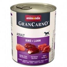ANIMONDA GRANCARNO ORIGINAL 800 g. su jautiena ir ėriena.