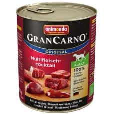 ANIMONDA GRANCARNO ORIGINAL 800 g. su įvairių rūšių mėsa.