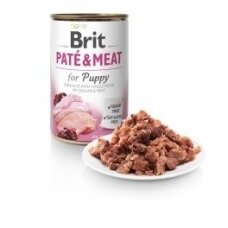 BRIT CARE 400 g Chicken & Turkey for Puppy Pate & Meat