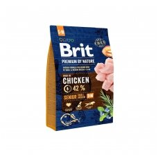 BRIT PREMIUM By Nature 3 kg Senior S/M Chicken.