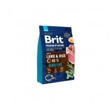 BRIT PREMIUM By Nature 3 kg Sensitive Lamb & Rice.