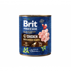 BRIT PREMIUM By Nature kons. šunims Chicken with Hearts 800 g