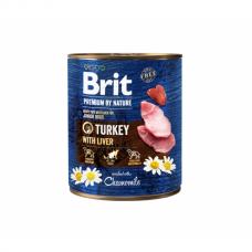 BRIT PREMIUM By Nature kons. šunims Turkey with Liver 800 g