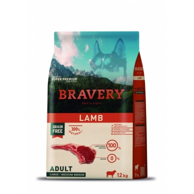 BRAVERY 12 kg ADULT LAMB MEDIUM/ MAXI BREED