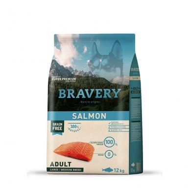 BRAVERY 12 kg ADULT SALMON MEDIUM/ MAXI BREED