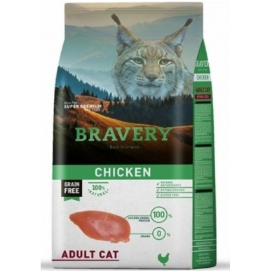 BRAVERY 7 kg CHICKEN for ADULT CAT
