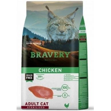 BRAVERY 7 kg CHICKEN for ADULT CAT STERILIZED