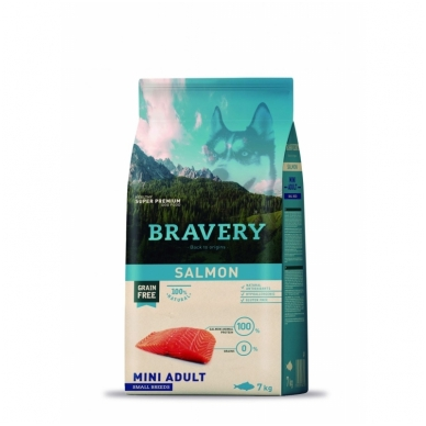 BRAVERY 7 kg MINI ADULT SALMON