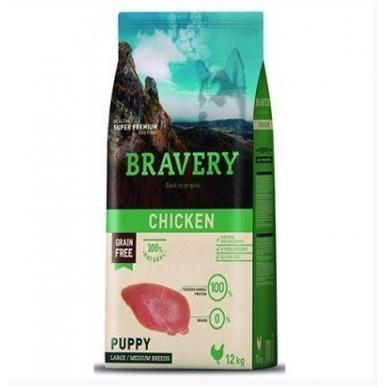 BRAVERY 12 kg PUPPY CHICKEN LARGE/MEDIUM BREEDS
