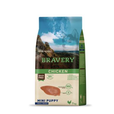 BRAVERY 7 kg PUPPY CHICKEN SMALL BREEDS