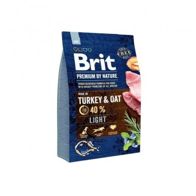 BRIT PREMIUM By Nature 3 kg Light Turkey & Oat