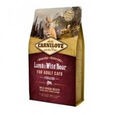 CARNILOVE 6 kg Lamb & Wild Boar. Sterilised