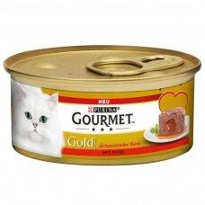GOURMET GOLD Melting Hearts 85 g. su jautiena