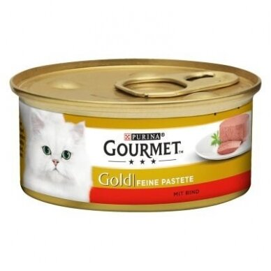 GOURMET GOLD su jautiena, paštetas. 85 g