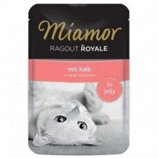 Miamor Ragout Royale in Jelly su veršiena 100 g