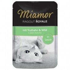 Miamor Ragout Royale padaže su kalakutiena ir žvėriena 100 g