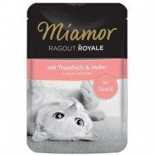 Miamor Ragout Royale padaže su tunu ir vištiena 100 g