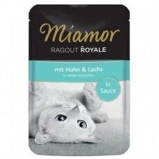 Miamor Ragout Royale padaže su vištiena ir lašiša 100 g