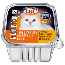PERFECTO CAT MENUE EXQUISIT paštetas su antiena ir kepenėlėmis, 100 g