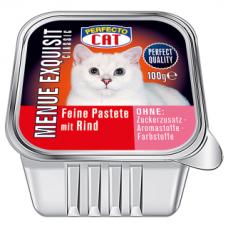 PERFECTO CAT MENUE EXQUISIT paštetas su jautiena, 100 g