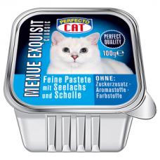 PERFECTO CAT MENUE EXQUISIT paštetas su žuvimi, 100 g