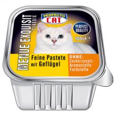 PERFECTO CAT MENUE EXQUISIT paštetas su paukštiena, 100 g