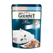 PURINA GOURMET PERLE 85g. su plekšnėmis ir krevetėmis.