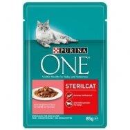 PURINA ONE 85 g STERILCAT su lašiša ir morkomis