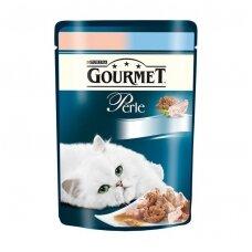 PURINA GOURMET PERLE 85g. su lašiša ir syku.