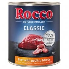 ROCCO CLASSIC ADULT 800 g su Jautiena ir paukštienos širdelėmis