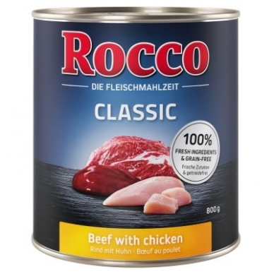 ROCCO CLASSIC ADULT su Jautiena ir Vištiena 800g.