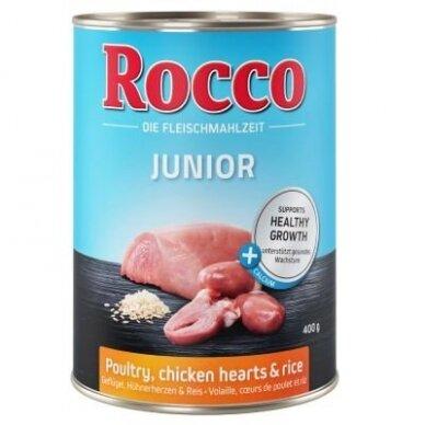 ROCCO JUNIOR su paukštiena, vištienos širdelėmis ir ryžiais
