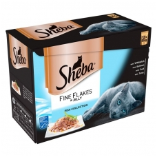 Sheba Fine Flakes konservai žėle žuvies rinkinys 12x85g